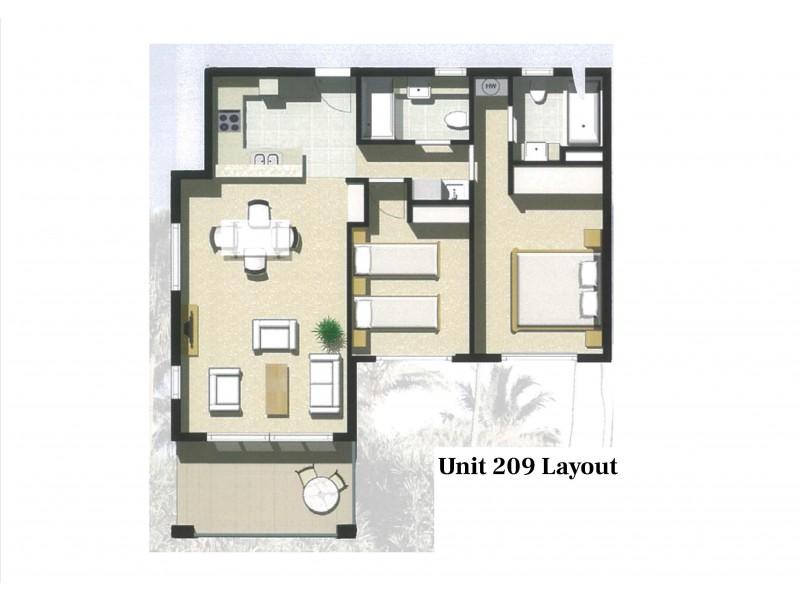 209/23 Esplanade, Bargara QLD 4670 Floorplan