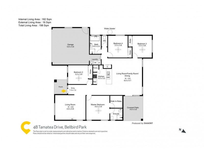 48 Tamatea Drive, Bellbird Park QLD 4300 Floorplan