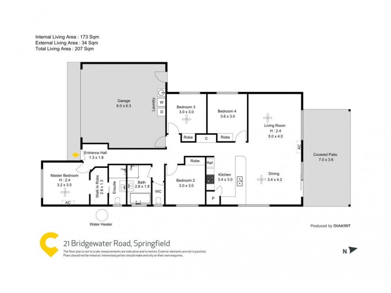 21 Bridgewater Road, Springfield QLD 4300 Floorplan