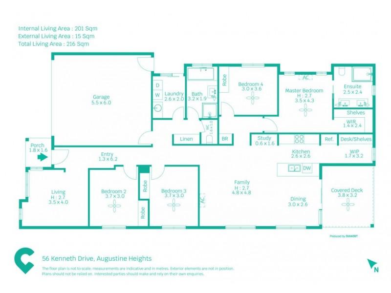 56 Kenneth Drive, Augustine Heights QLD 4300 Floorplan