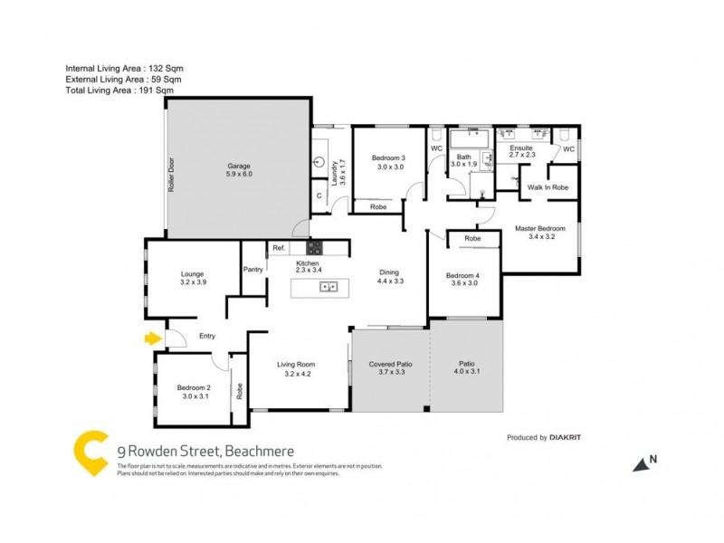9 Rowden Street, Beachmere QLD 4510 Floorplan