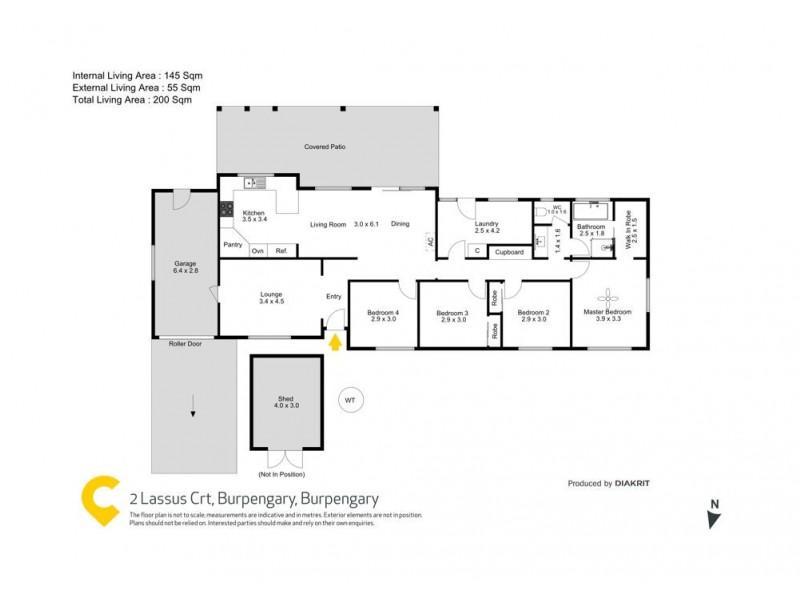 2 Lassus Crt, Burpengary QLD 4505 Floorplan