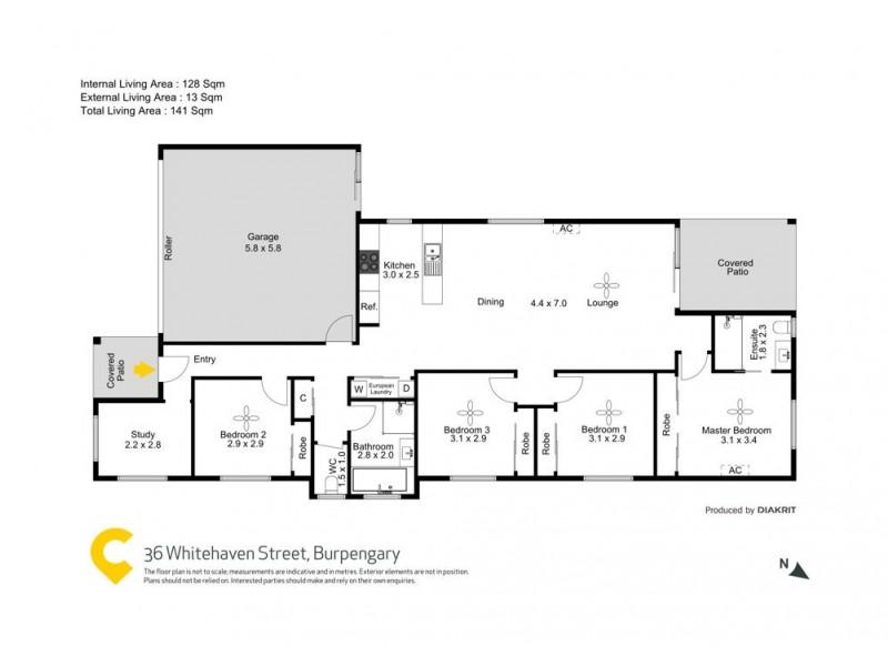 36 Whitehaven Street, Burpengary QLD 4505 Floorplan