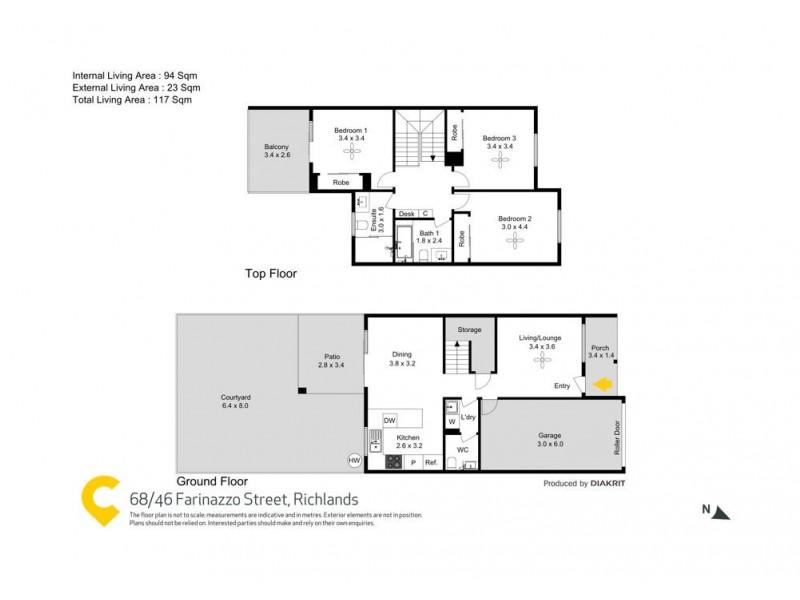 68/46 Farinazzo Street, Richlands QLD 4077 Floorplan