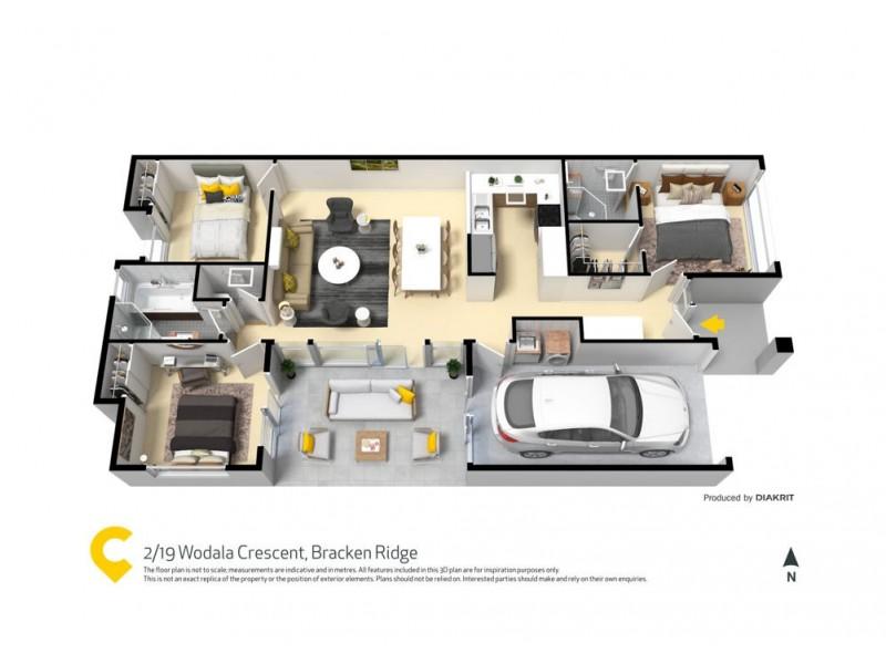 2/19 Wodala Crescent, Bracken Ridge QLD 4017 Floorplan