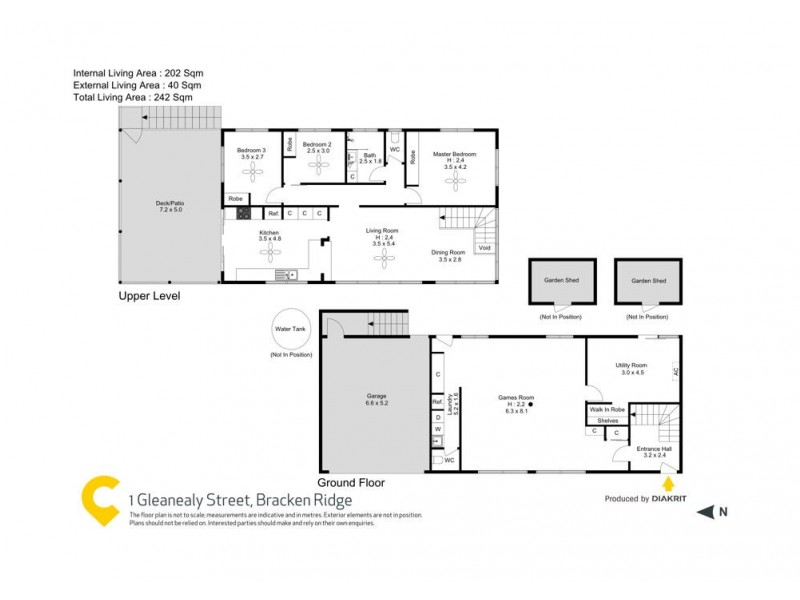 1 Glenealy Street, Bracken Ridge QLD 4017 Floorplan
