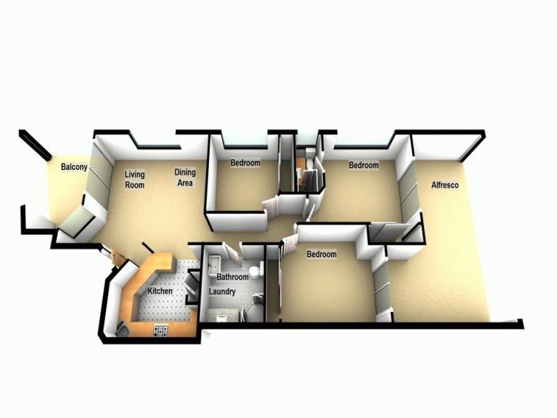 2/18 Frederick Street, Alderley QLD 4051 Floorplan