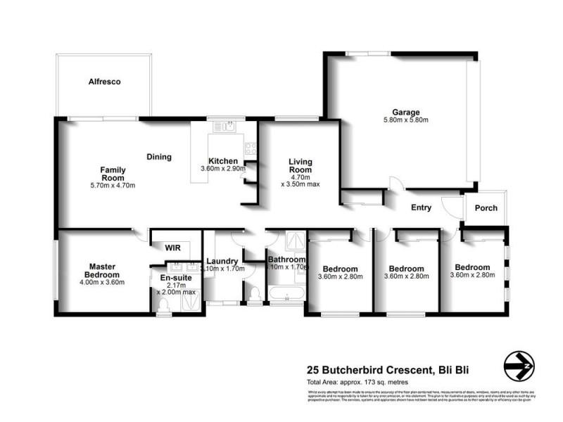 25 Butcherbird Crescent, Bli Bli QLD 4560 Floorplan