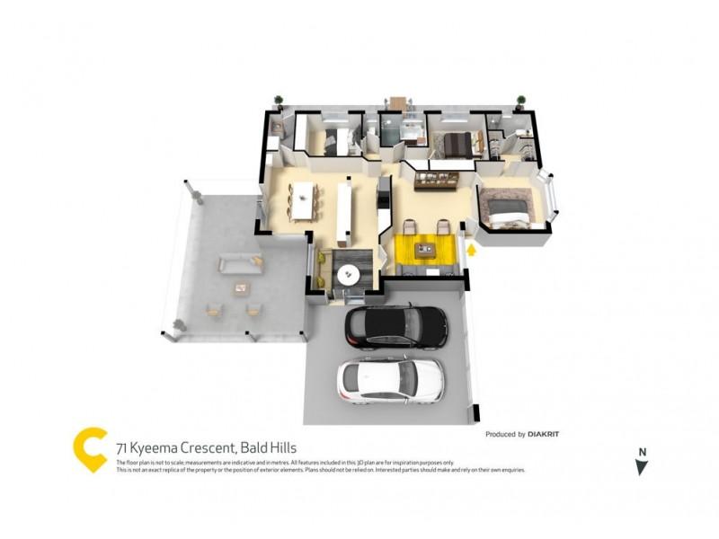 71 Kyeema Crescent, Bald Hills QLD 4036 Floorplan
