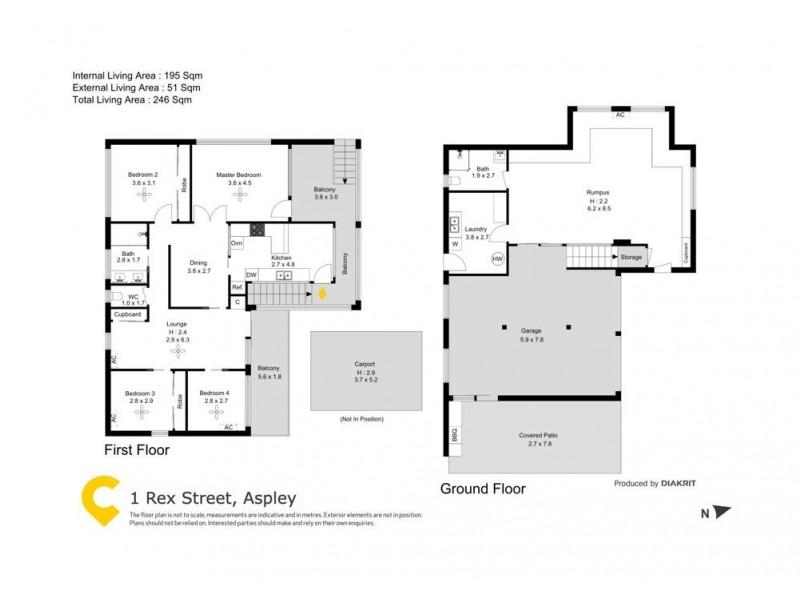 1 Rex Street, Aspley QLD 4034 Floorplan