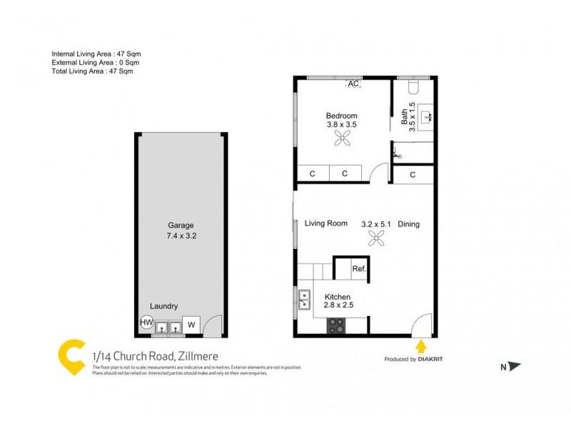 1/14 Church Road, Zillmere QLD 4034 Floorplan