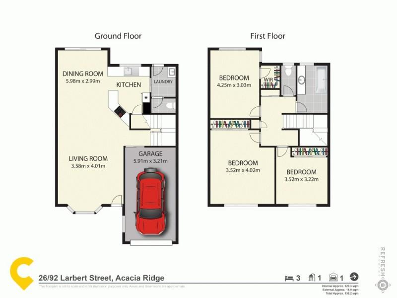 26/92 Larbert Street, Acacia Ridge QLD 4110 Floorplan