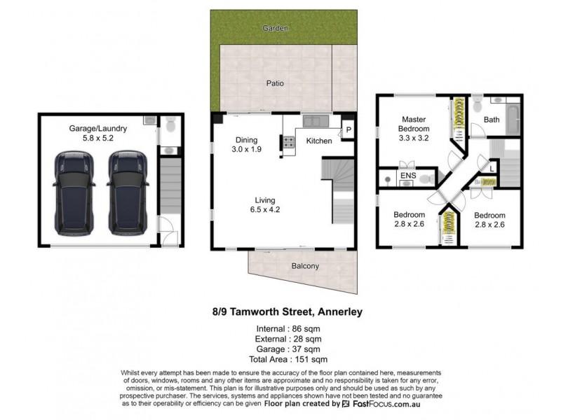 8/9 Tamworth Street, Annerley QLD 4103 Floorplan