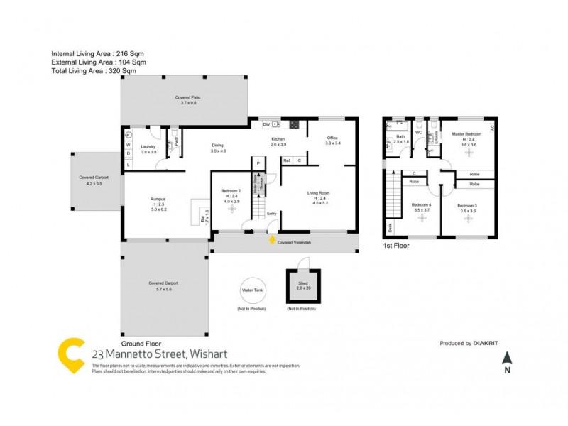 23 Mannetto Street, Wishart QLD 4122 Floorplan
