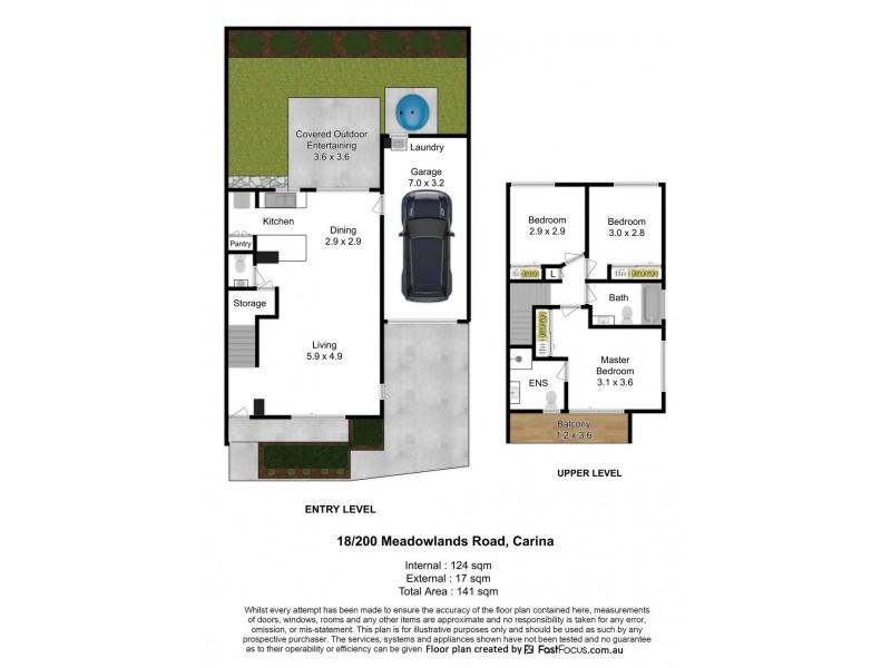 18/200 Meadowlands Road, Carina QLD 4152 Floorplan