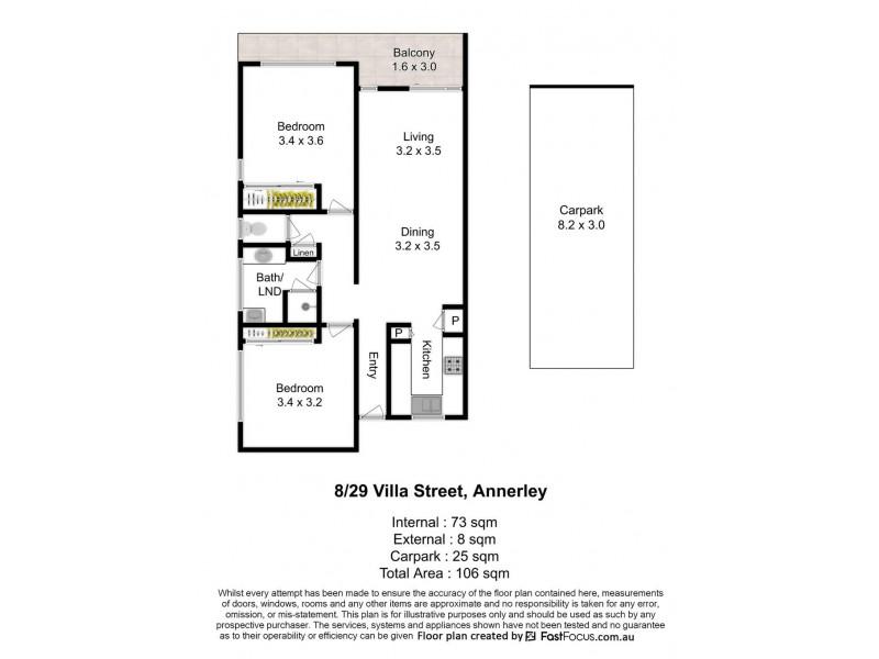 8/29 Villa Street, Annerley QLD 4103 Floorplan