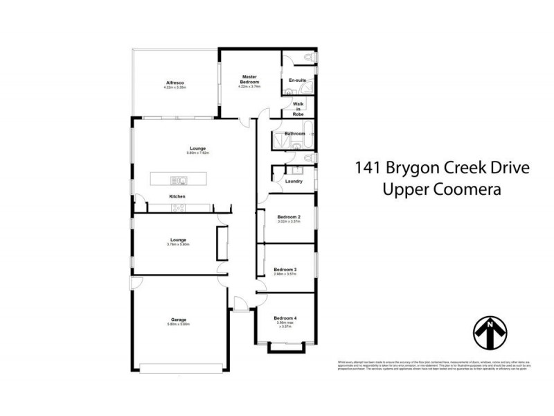 141 Brygon Creek Drive, Upper Coomera QLD 4209 Floorplan