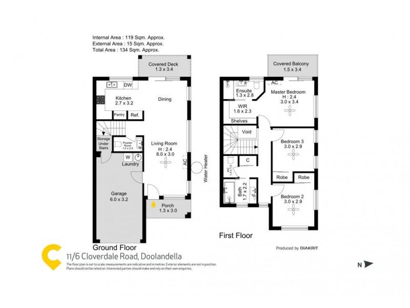 11/6 Cloverdale Road, Doolandella QLD 4077 Floorplan