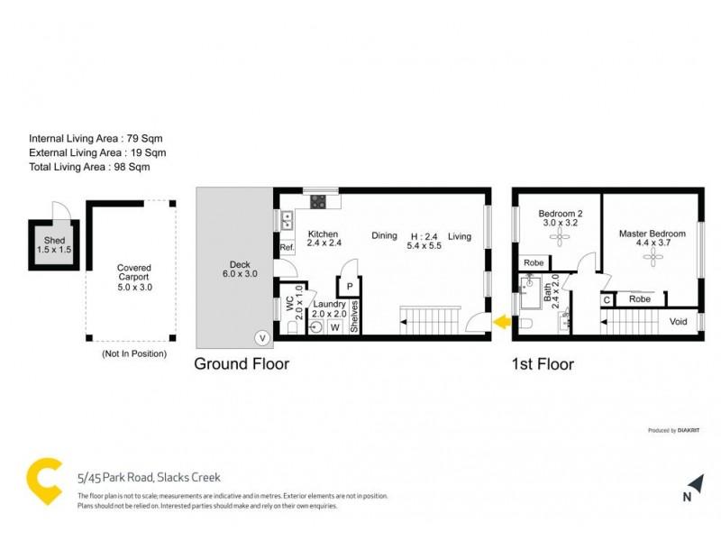 5/45 Park Road, Slacks Creek QLD 4127 Floorplan
