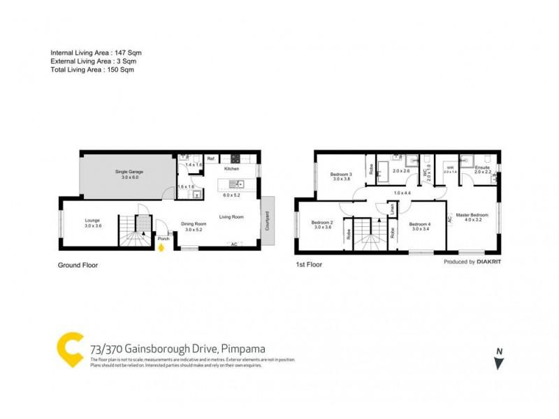 73/370 Gainsborough Drive, Pimpama QLD 4209 Floorplan