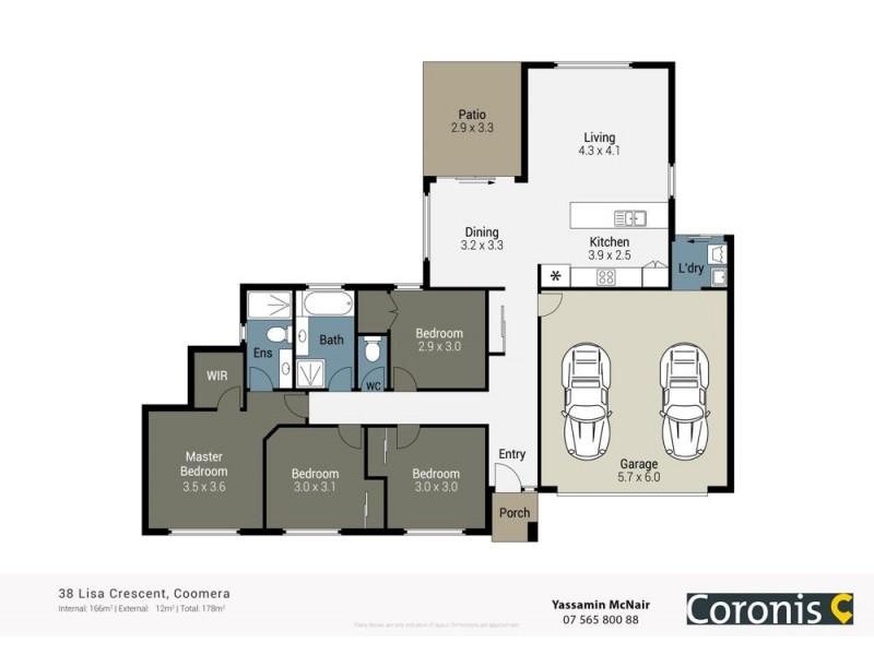 38 Lisa Crescent, Coomera QLD 4209 Floorplan