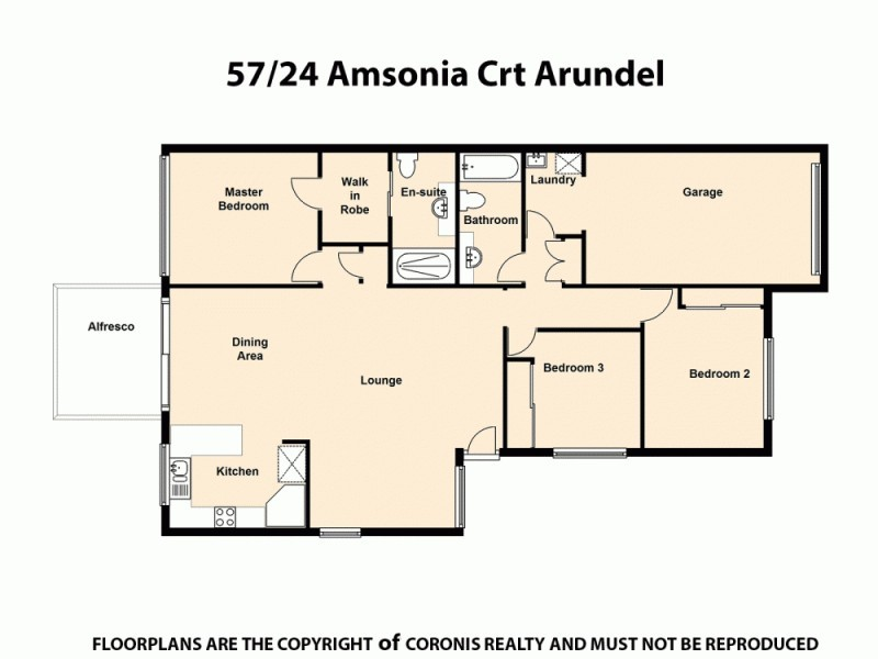 57/24 Amsonia Court, Arundel QLD 4214 Floorplan