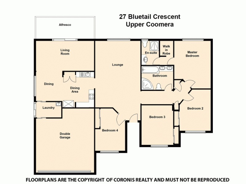 27 Bluetail Crescent, Upper Coomera QLD 4209 Floorplan