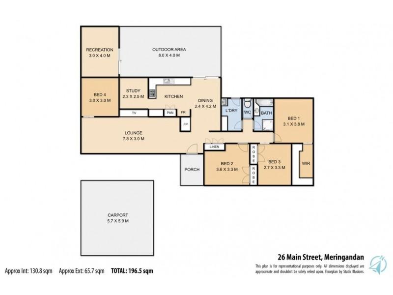 26 Main Street, Meringandan QLD 4352 Floorplan