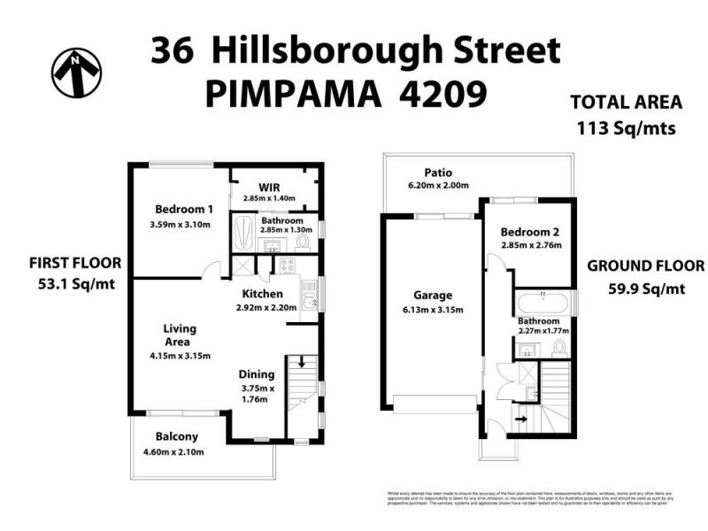 36 Hillsborough Place, Pimpama QLD 4209 Floorplan