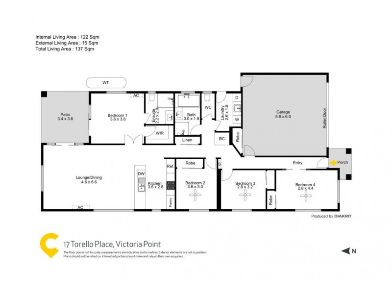 17 Torello Crescent, Victoria Point QLD 4165 Floorplan