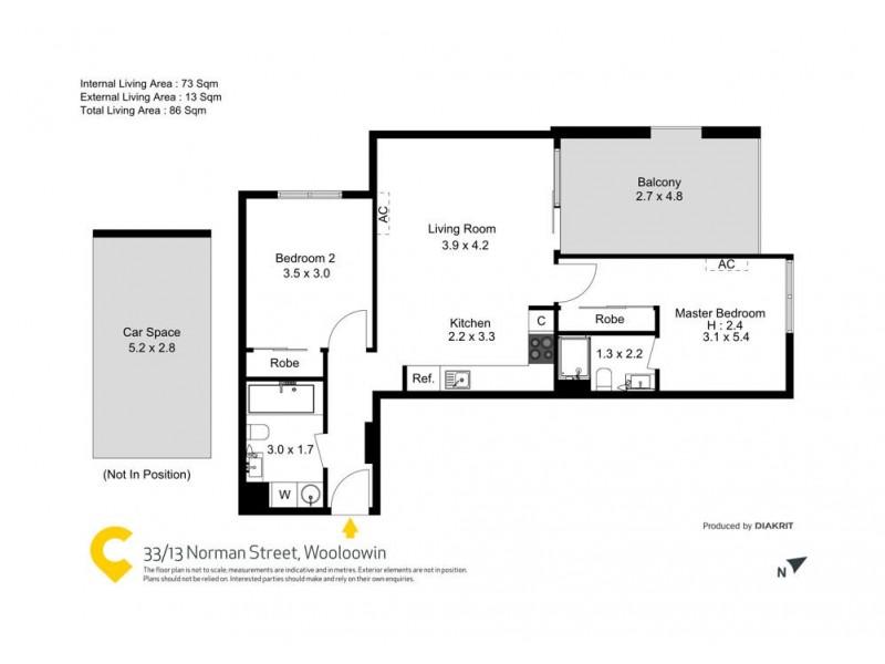 33/13 Norman Street, Wooloowin QLD 4030 Floorplan