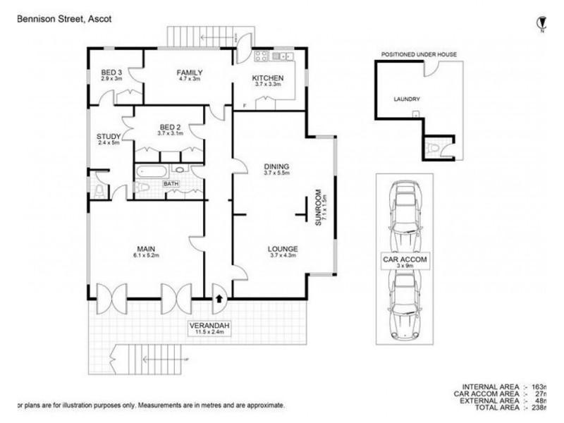 9 Bennison Street, Ascot QLD 4007 Floorplan