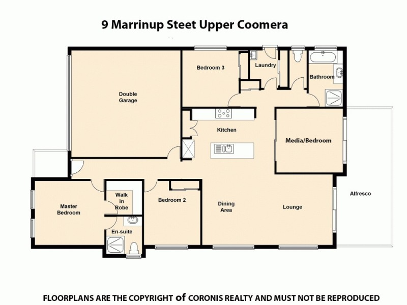 9 Marrinup Street, Upper Coomera QLD 4209 Floorplan