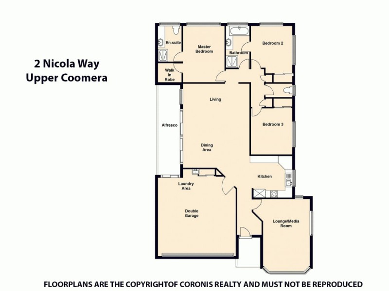 2 Nicola Way, Upper Coomera QLD 4209 Floorplan