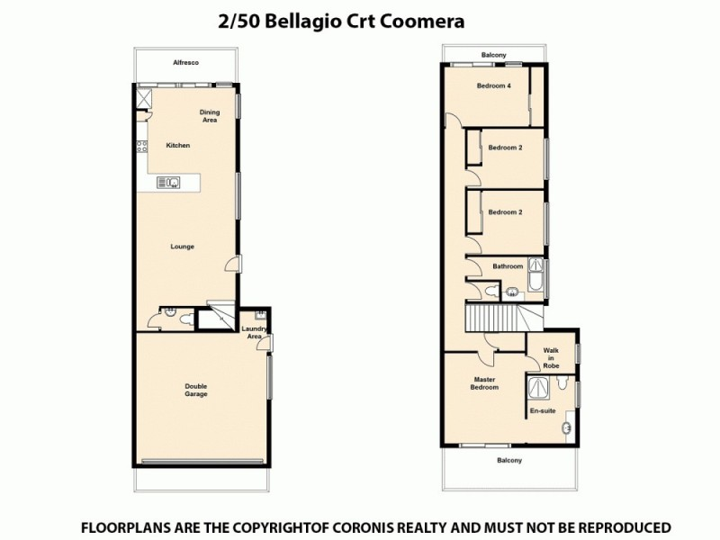 2/50 Bellagio Crescent, Coomera QLD 4209 Floorplan