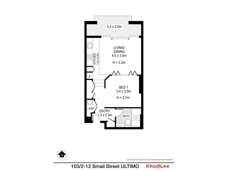 103/2-12  Smail Street, Ultimo NSW 2007 Floorplan