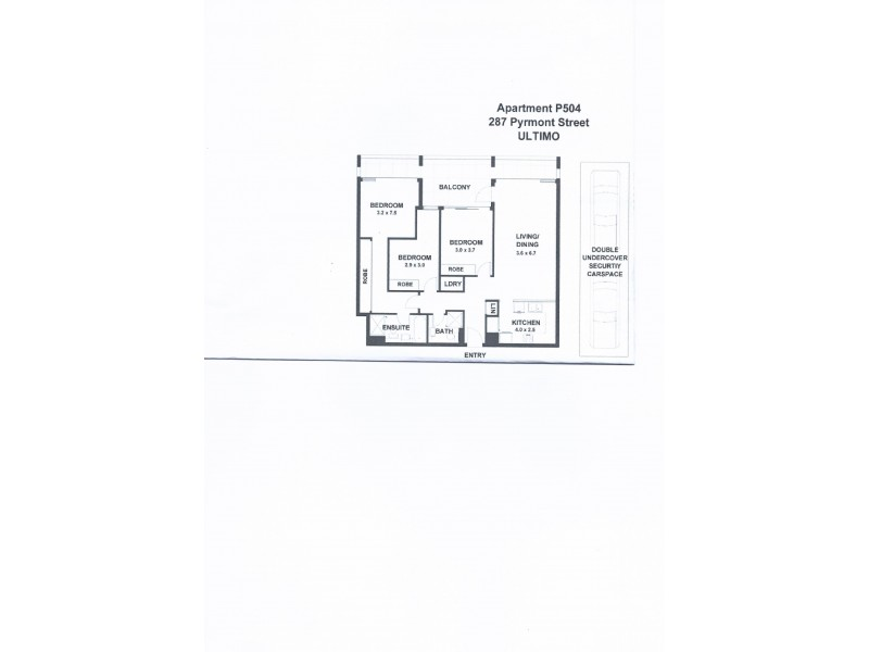 P504/287 Pyrmont Street, Ultimo NSW 2007 Floorplan