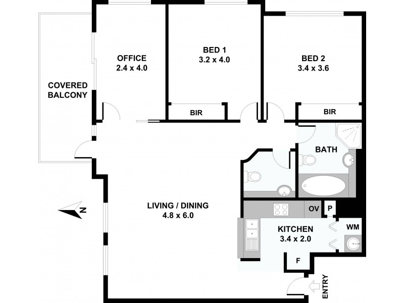 Level 28/2805/343 Pitt Street, Sydney NSW 2000 Floorplan