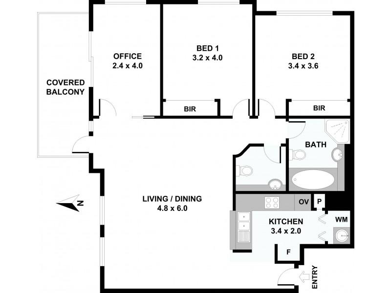 2805/343 Pitt Street, Sydney NSW 2000 Floorplan