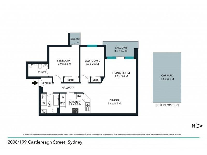 2008/197-199 Castlereagh Street, Sydney NSW 2000 Floorplan
