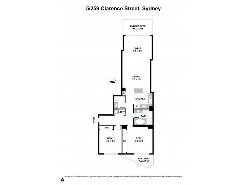 5/259  Clarence Street, Sydney NSW 2000 Floorplan