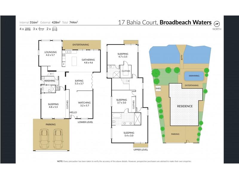 Broadbeach Waters QLD 4218 Floorplan