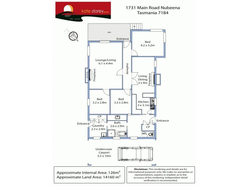 1731 Main Road, Nubeena TAS 7184 Floorplan