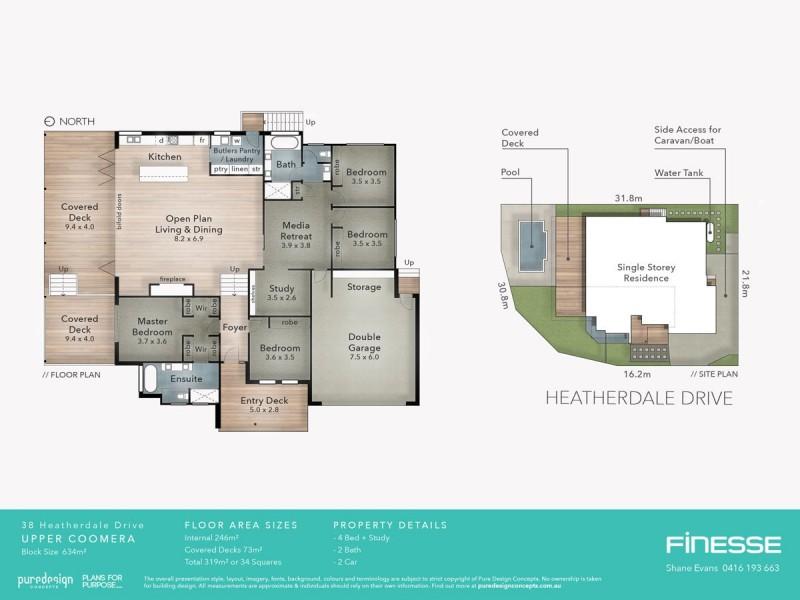 38 Heatherdale Drive, Upper Coomera QLD 4209 Floorplan