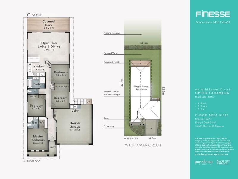 66 Wildflower Circuit, Upper Coomera QLD 4209 Floorplan