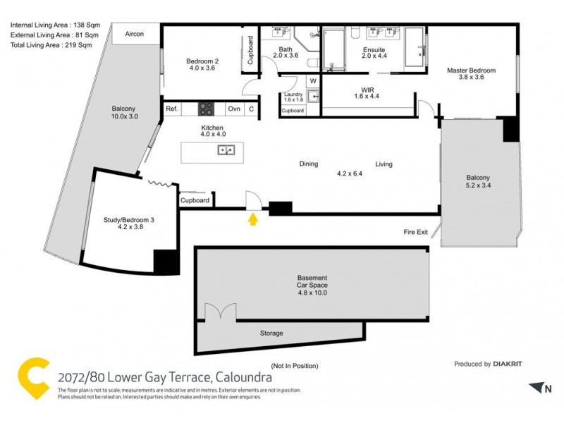 2072/80 Lower Gay Terrace, Caloundra QLD 4551 Floorplan