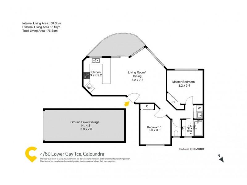 4/60 Lower Gay Terrace, Caloundra QLD 4551 Floorplan