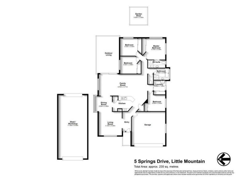 5 Springs Drive, Little Mountain QLD 4551 Floorplan
