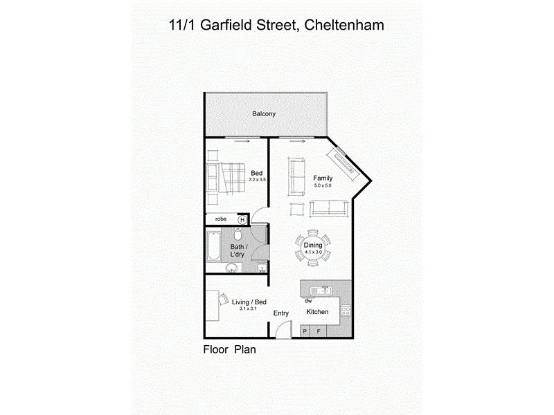 11/1 Garfield Street, Cheltenham VIC 3192 Floorplan