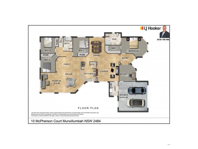 10 McPherson Court, Murwillumbah NSW 2484 Floorplan